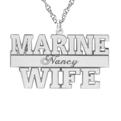 Alison and Ivy Marine Personalized Pendant 16x29mm