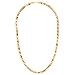 Men's Yellow Gold Curb Chain Necklace 5.5mm, 22 Inches