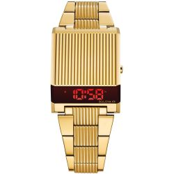 Men's Bulova Archive Series Digital LED Computron Gold-Tone Stainless Steel Watch 97C110