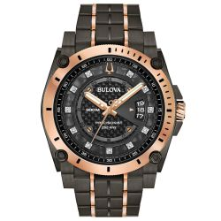 Men's Bulova Precisionist Champlain Diamond Watch 98D149