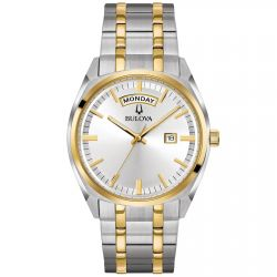 Men's Bulova Classic Surveyor Two-Tone Stainless Steel Watch 98C127