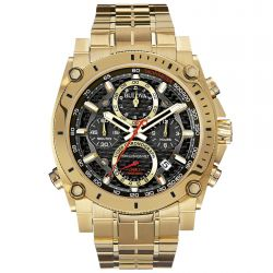 Men's Bulova Precisionist Gold Tone Bracelet Watch 97B138