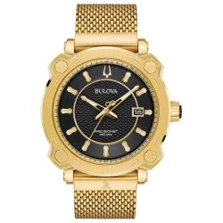Men's Bulova Precisionist GRAMMY Special Edition Gold-Tone Stainless Steel Watch 97B163