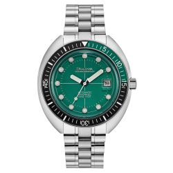 Men's Bulova Oceanographer Green Dial Stainless Steel Automatic Special Edition Watch 96B322