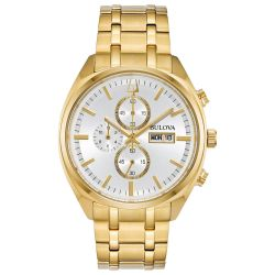 Men's Bulova Classic Surveyor Gold-Tone Stainless Steel Watch 97C109