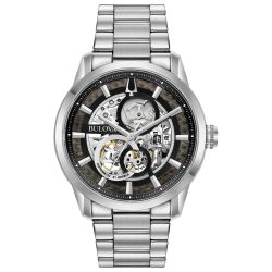 Men's Bulova Classic Sutton Automatic Skeleton Dial Bracelet Watch 96A208