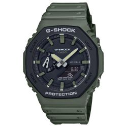 Men's Casio G-Shock Analog-Digital Carbon Core Guard Army Green Resin Strap Watch GA2110SU-3A