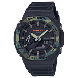 Men's Casio G-Shock Analog-Digital Octagon Camo Bezel Watch GA2100SU-1A