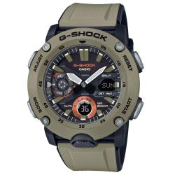 Men's Casio G-Shock Analog-Digital Carbon Core Guard Beige Resin Band Watch GA2000-5A