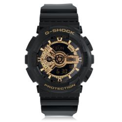 Men's Casio G-Shock Classic Black and Gold X-Large Analog-Digital Watch GA110GB-1A