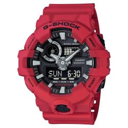 Men's Casio G-Shock Analog-Digital GA700 Red Resin Watch GA700-4A