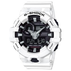 Men's Casio G-Shock Analog-Digital GA700 White Resin Watch GA700-7A