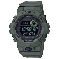 Men's Casio G-Shock Digital Power Trainer Connected Green Resin Watch GBD800UC-3