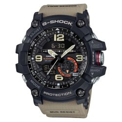 Men's Casio G-Shock Master of G Mudmaster Twin Sensor Desert Tan Khaki Watch GG1000-1A5