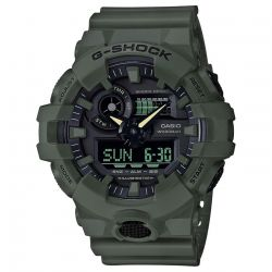 Men's Casio G-Shock Analog-Digital Utility Color Olive Green Resin Watch GA700UC-3A
