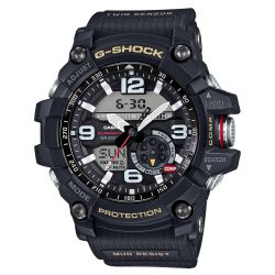 Men's Casio G-Shock Master of G Mudmaster Twin Sensor Black Watch GG1000-1A
