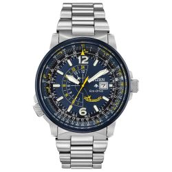 Men's Citizen Eco-Drive Blue Angels Promaster Nighthawk Bracelet Watch BJ7006-56L
