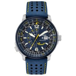 Men's Citizen Eco-Drive Blue Angels Promaster Nighthawk Strap Watch BJ7007-02L