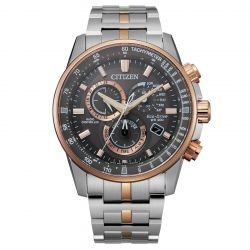 Men's Citizen Eco-Drive PCAT Perpetual Chrono A-T Two-Tone Watch CB5886-58H