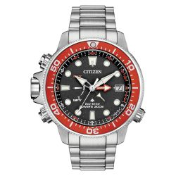Men's Citizen Eco-Drive Promaster Aqualand Grey Red Watch BN2039-59E