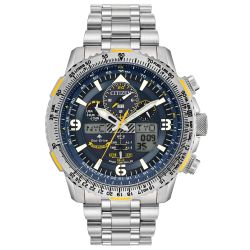 Men's Citizen Eco-Drive Promaster Blue Angels Skyhawk A-T Titanium Watch JY8101-52L