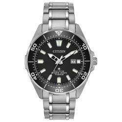 Men's Citizen Eco-Drive Promaster Diver Black Dial Bracelet Watch BN0200-56E