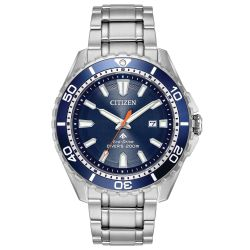 Men's Citizen Eco-Drive Promaster Diver Stainless Steel and Blue Dial Watch BN0191-55L