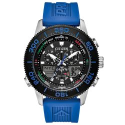 Men's Citizen Eco-Drive Promaster Marine Sailhawk Top of Water Blue Strap Watch JR4068-01E