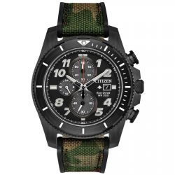 Men's Citizen Eco-Drive Promaster Tough Camoflauge Nylon Strap Watch CA0727-12E
