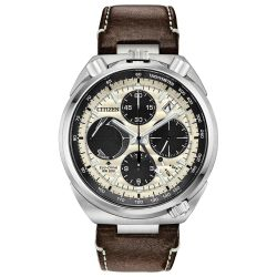 Men's Citizen Promaster Tsuno Chronograph Racer Leather Watch AV0079-01A