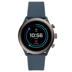 Men's Fossil Sport Smartwatch in Smokey Blue Silicone FTW4021