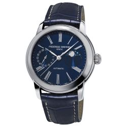 Men's Frederique Constant Classic Moonphase Automatic Blue Dial Watch FC-712MN4H6