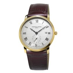 Men's Frederique Constant Slimline Yellow Gold-Plated Watch FC-245M5S5