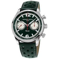 Men's Frederique Constant Vintage Rally Healey Chronograph Automatic Green Dial Watch FC-397HGR5B6