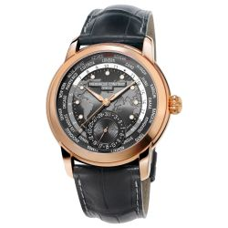 Men's Frederique Constant Worldtimer Automatic Black Dial Watch FC-718DGWM4H4
