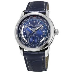 Men's Frederique Constant Worldtimer Automatic Blue Dial Watch FC-718NWM4H6