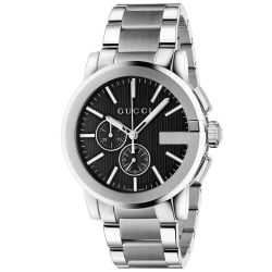 Men's Gucci G-Chrono Black Dial Stainless Steel Watch YA101204
