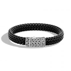 Men's John Hardy Classic Chain 10.5mm Black Rubber Bracelet