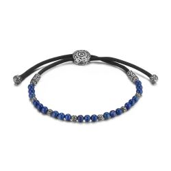 Men's John Hardy Classic Chain Pull Through Bracelet with Lapis