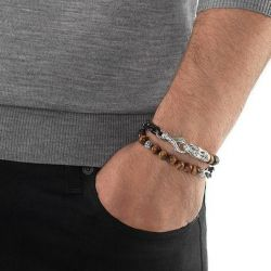 Men's John Hardy Legends Naga Tiger Eye Wrap Bracelet
