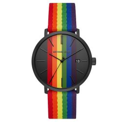 Men's Michael Kors Blake Rainbow and Black-Tone Watch MK8713