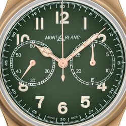 Men's Montblanc 1858 Automatic Chronograph Limited Edition Khaki-Green Nato Strap Watch 119908