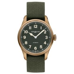 Men's Montblanc 1858 Automatic Limited Edition Khaki-Green Nato Strap Watch 118222