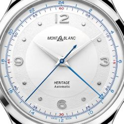 Men's Montblanc Heritage Collection GMT Stainless Steel Watch 119949