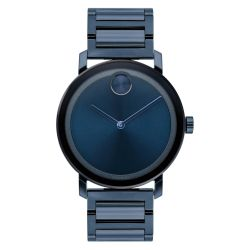 Men's Movado BOLD Evolution Blue Ion-Plated Stainless Steel Watch 3600510