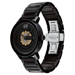 Men's Movado BOLD Evolution Exposed Quartz Dial Black Ion-Plated Stainless Steel Watch 3600677