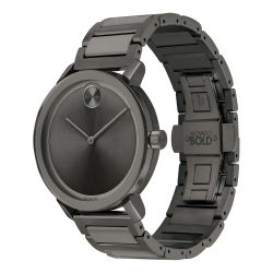 Men's Movado BOLD Evolution Gunmetal Ion-Plated Stainless Steel Watch 3600509