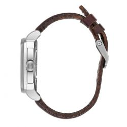 Men's Nixon Charger Brown Leather Strap Watch A10731113