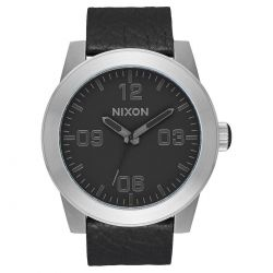 Men's Nixon Corporal Black Leather Watch A243-2788-00