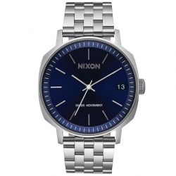 Men's Nixon Regent II SS Navy Blue Dial Stainless Steel Watch A9632372